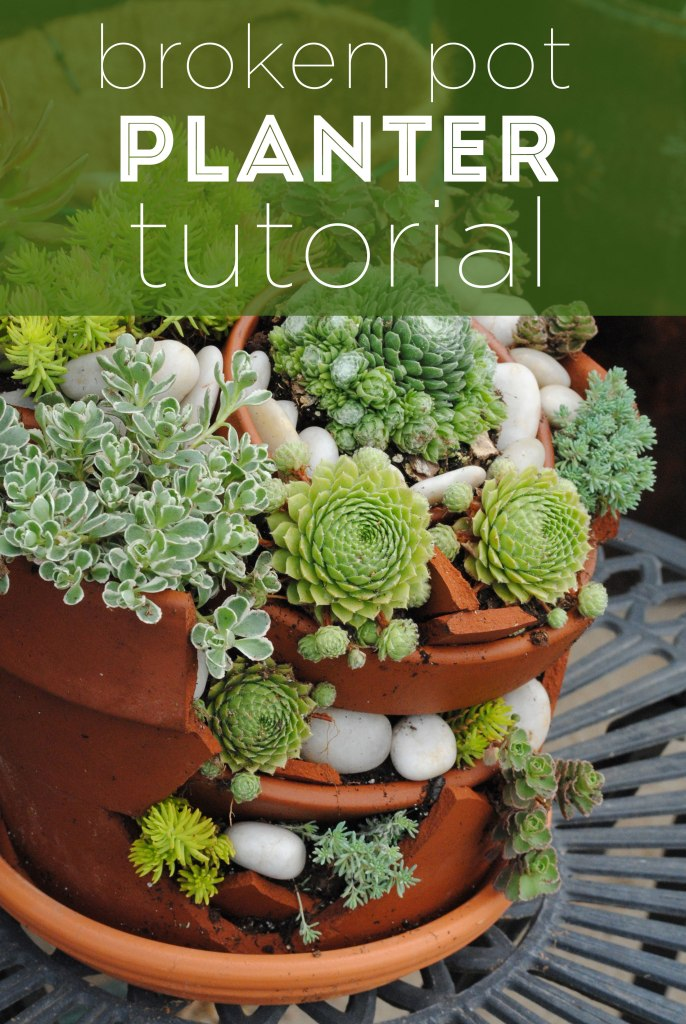 Broken Pot Planter Tutorial