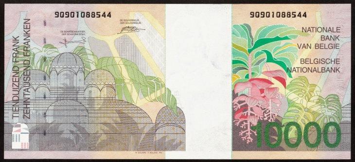 10000 Belgian Francs banknote
